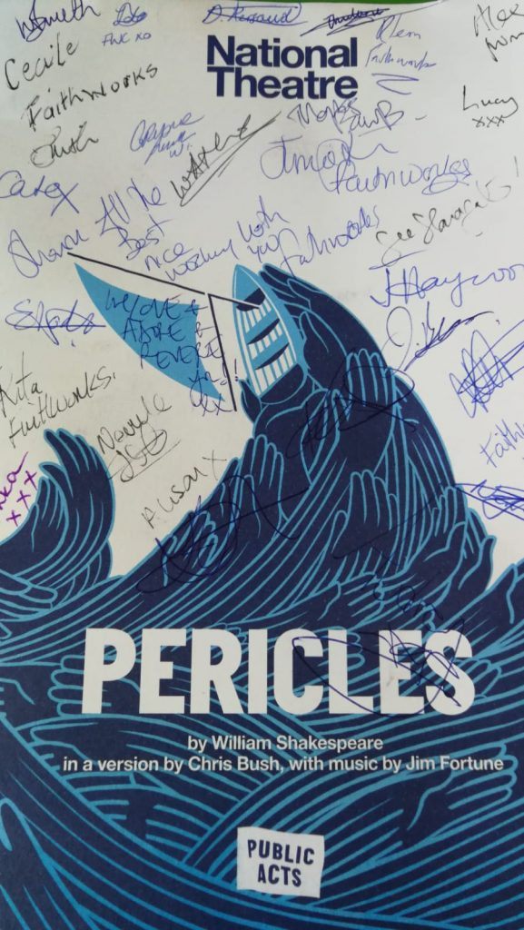 Our signed program from the Pericles cast at National Theatre