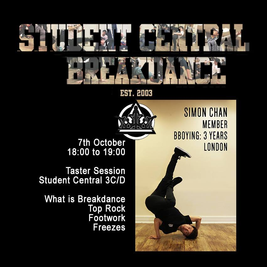 Student central breakdance in London