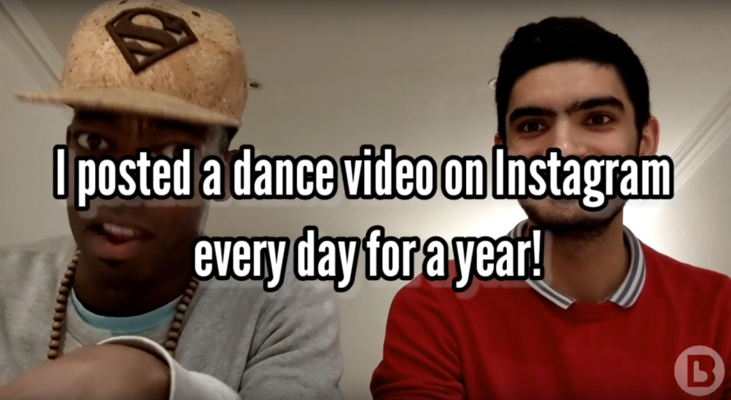 Our boy danced on instagram every day for a year!